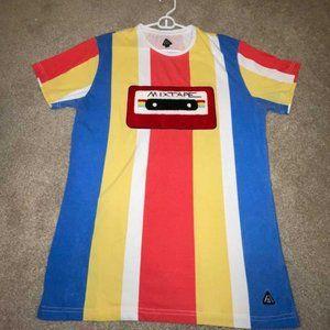 American Stitch 1983 Striped Mixtape T-Shirt Large
